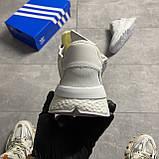 Чоловічі/жіночі кросівки Adidas Nite Jogger Triple White, фото 2