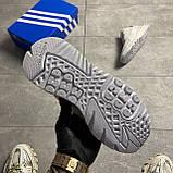 Чоловічі/жіночі кросівки Adidas Nite Jogger Triple White, фото 3