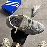 Чоловічі/жіночі кросівки Adidas Nite Jogger Triple White, фото 5