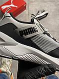 Чоловічі кросівки Puma Hybrid Grey White, фото 3