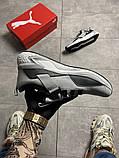 Чоловічі кросівки Puma Hybrid Grey White, фото 4