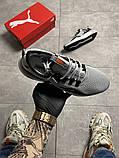 Чоловічі кросівки Puma Hybrid Grey White, фото 5