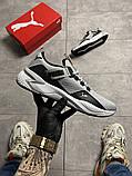Чоловічі кросівки Puma Hybrid Grey White, фото 6