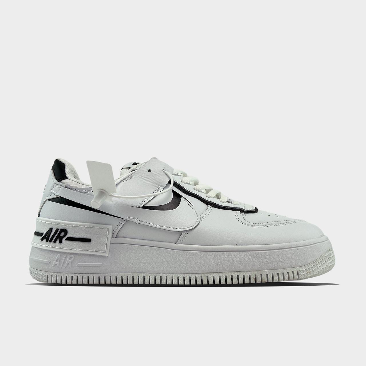 Жіночі кросівки Nike Air Force White Black Shadow