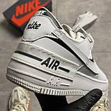 Жіночі кросівки Nike Air Force White Black Shadow, фото 2