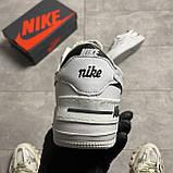 Жіночі кросівки Nike Air Force White Black Shadow, фото 3