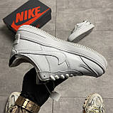 Жіночі кросівки Nike Air Force White Black Shadow, фото 4