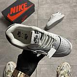 Жіночі кросівки Nike Air Force White Black Shadow, фото 5