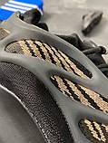 Чоловічі кросівки Adidas Yeezy Boost 700 V3 Black Brown, фото 4