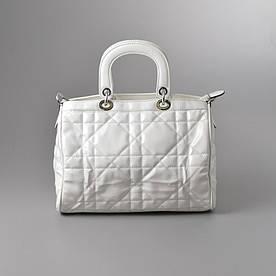 УЦЕНКА: Женская сумка 90016 белая стеганая