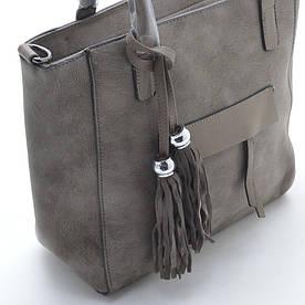 """Прикраса на сумку """"Brushes"""" срібло, хакі"""