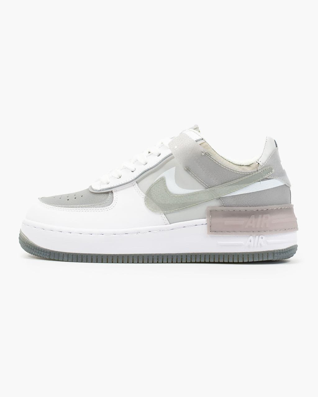 Женские кроссовки Nike Air Force Shadow White Grey