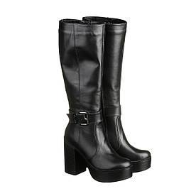 VM-Villomi Елегантні шкіряні чобітка на зиму на високому каблуці