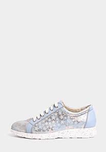 VM-Villomi Шкіряні кросівки блакитного кольору з оформленням зірочка