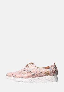 VM-Villomi Рожеві кросівки з натуральної шкіри в квіточку