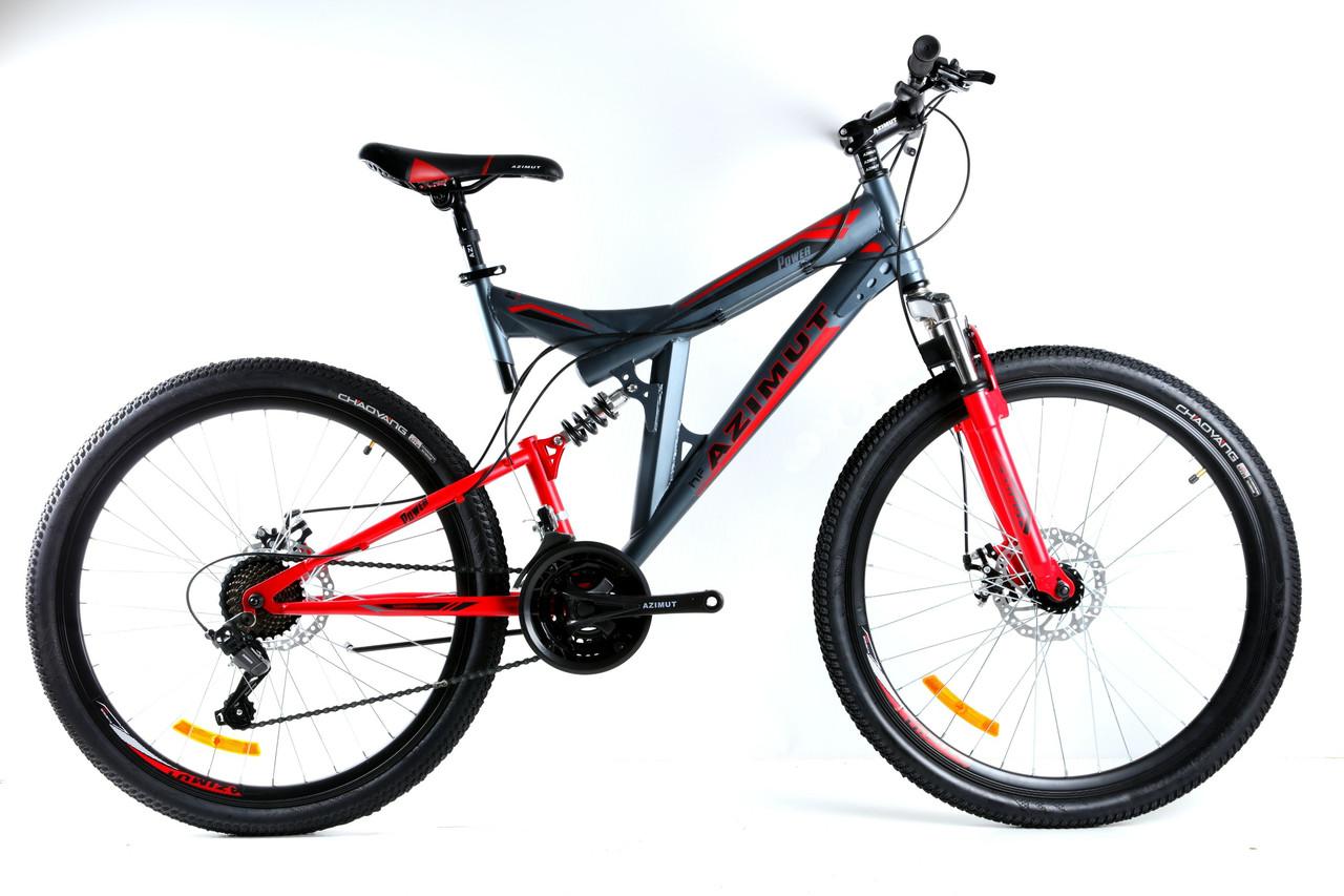 Подростковый велосипед двухподвесной Power 24 дюйма 17 рама Azimut