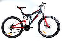 Подростковый велосипед двухподвесной Power 24 дюйма 17 рама Azimut, фото 1