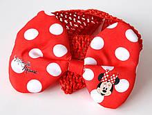 Пов'язка на голову дитяча Fashion з бантом червона