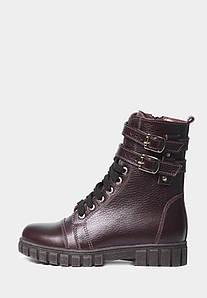VM-Villomi Практичні бордові черевики зі шкіри