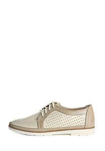 VM-Villomi Жіночі туфлі бежевого кольору на низькому ходу зі шнурівкою