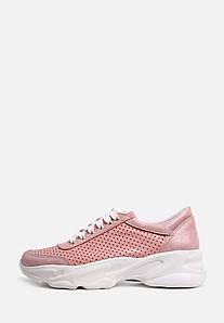 VM-Villomi Стильні рожеві перфоровані кросівки на білій підошві
