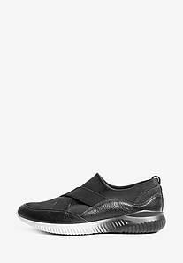 Черные мужские кроссовки с резинками