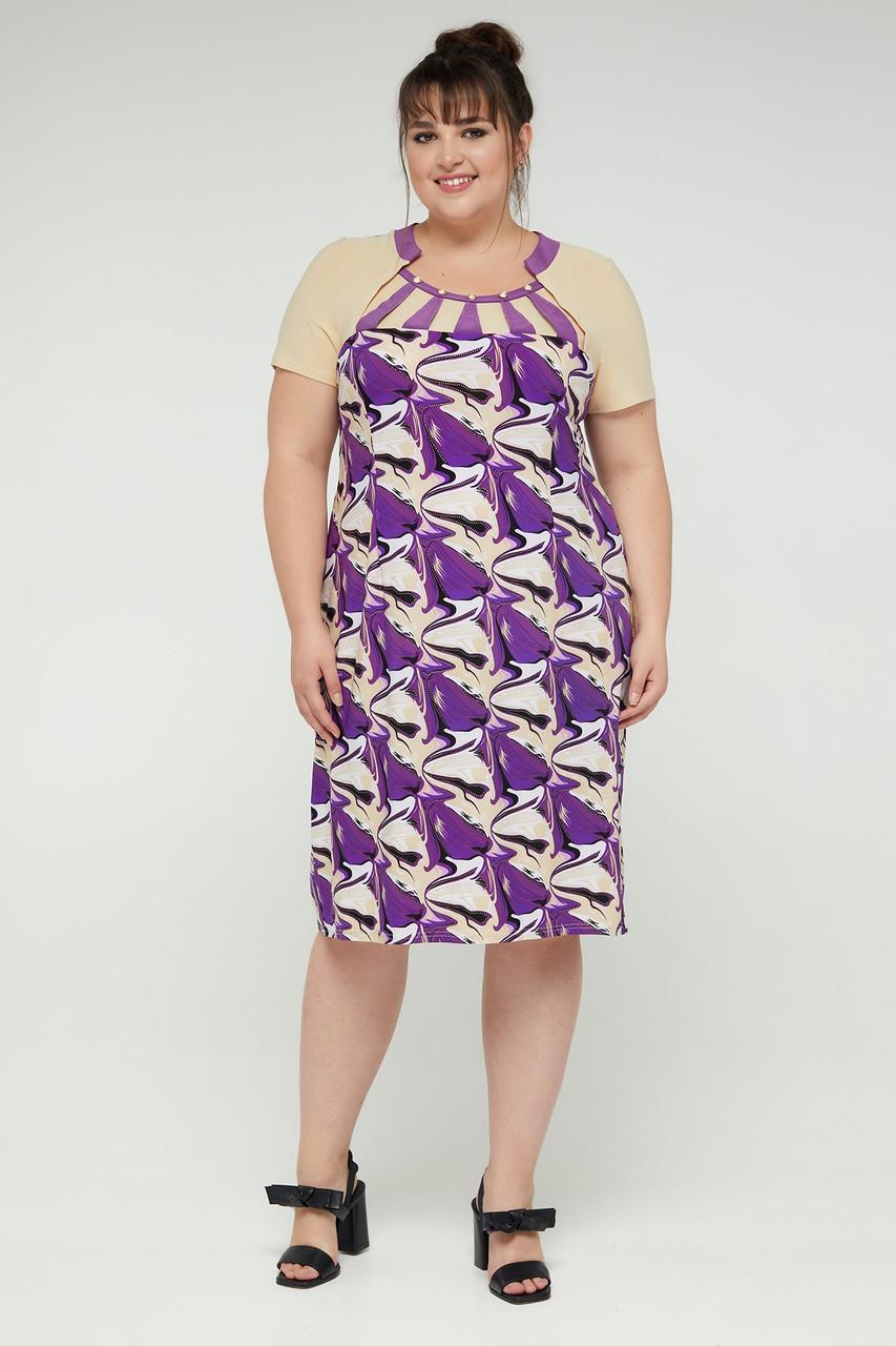 Платье ТМ ALL POSA Рональдо фиолетовый 50 (100198)