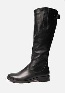 VM-Villomi Елегантні шкіряні жіночі чоботи на маленькому підборах