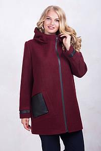 Пальто ТМ ALL POSA Кетті бордовий 50 (1197-1)