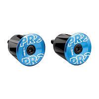 Заглушки руля (баренды)Shimano PRO, алюминиевые, синие