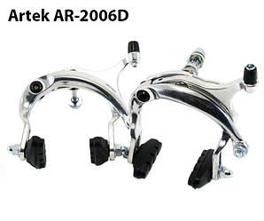 Тормоза велосипеда U-brake Artek AR-2006D серебро, шоссе-турист