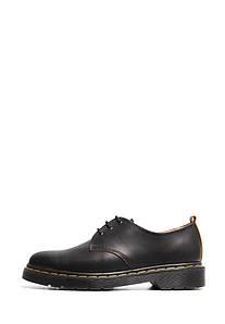 VM-Villomi Чорні туфлі дербі з матової шкіри на темній підошві