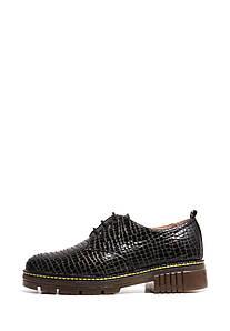 VM-Villomi Темні закриті туфлі на шнурках з золотистим відливом