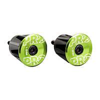 Заглушки руля (баренды) Shimano PRO, алюминиевые, зеленые