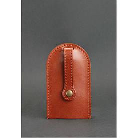 Кожаная ключница 2.0 светло-коричневая