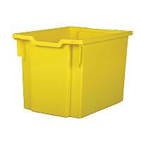 Пластиковый лоток F3 желтый 312х427х300 мм без направляющих ,контейнер для школьной мебели