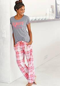 Жіноча піжама Arizona 52/54 рожево-сірий (12212801630444)