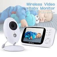 """Видеоняня Baby Monitor XF-808 3.5"""" JKR с датчиком звука, режимом ночного видения и термометром няня"""