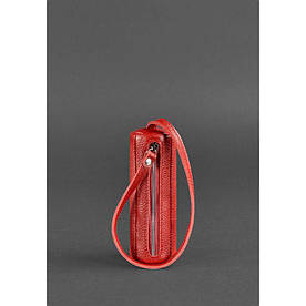 Женская кожаная ключница 3.0 Тубус красная