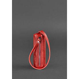 Жіноча шкіряна ключниця 3.0 Тубус червона