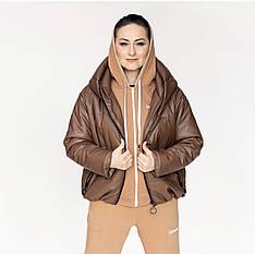 """Куртка молодіжна з еко-шкіри """"Санта-шкіра"""" весняно-осіння"""
