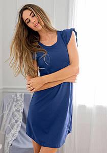 Жіноча нічна сорочка s.Oliver 60/62 темно-синій (12777700035525)