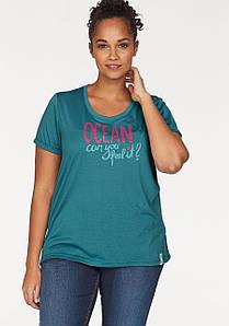 Женская футболка Ocean Sportswear 52/54 черный (12826000412444)