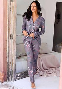 Женская пижама s.Oliver 56/58 сиреневый с принтом (12991201054485)