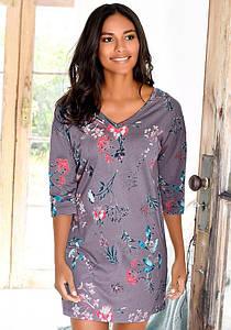 Женская ночная рубашка s.Oliver 52/54 сиреневый с принтом (12991401054444)