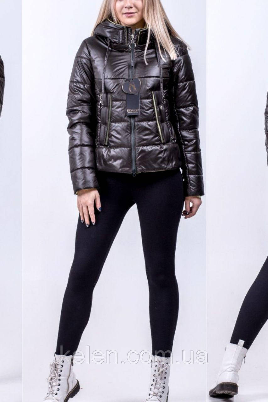 Куртка демисезонная цвет  темный хаки 42-44-46 размеры