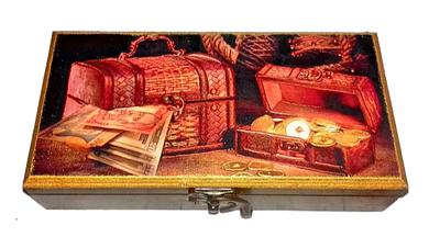 Шкатулка купюрница для денег деревянная . Шкатулка под деньги. Богатство