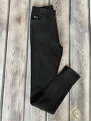 Джеггинсы молодёжные увеличенных размеров чёрного цвета 52,54,56