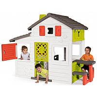 Smoby Toys Дом для друзей с летней кухней и чердаком, дверным звонком и столиком (810202)