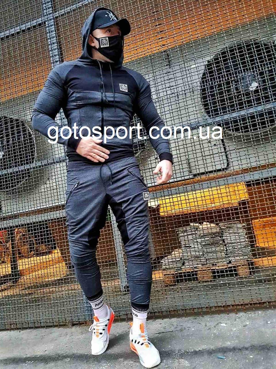 Мужской спортивный костюм New Strength Grey